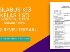 silabus k13 sd kelas 1