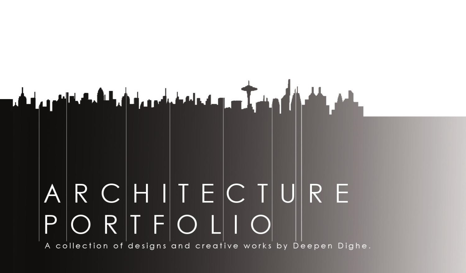 architecture portfolio, design by Deepen Dighe