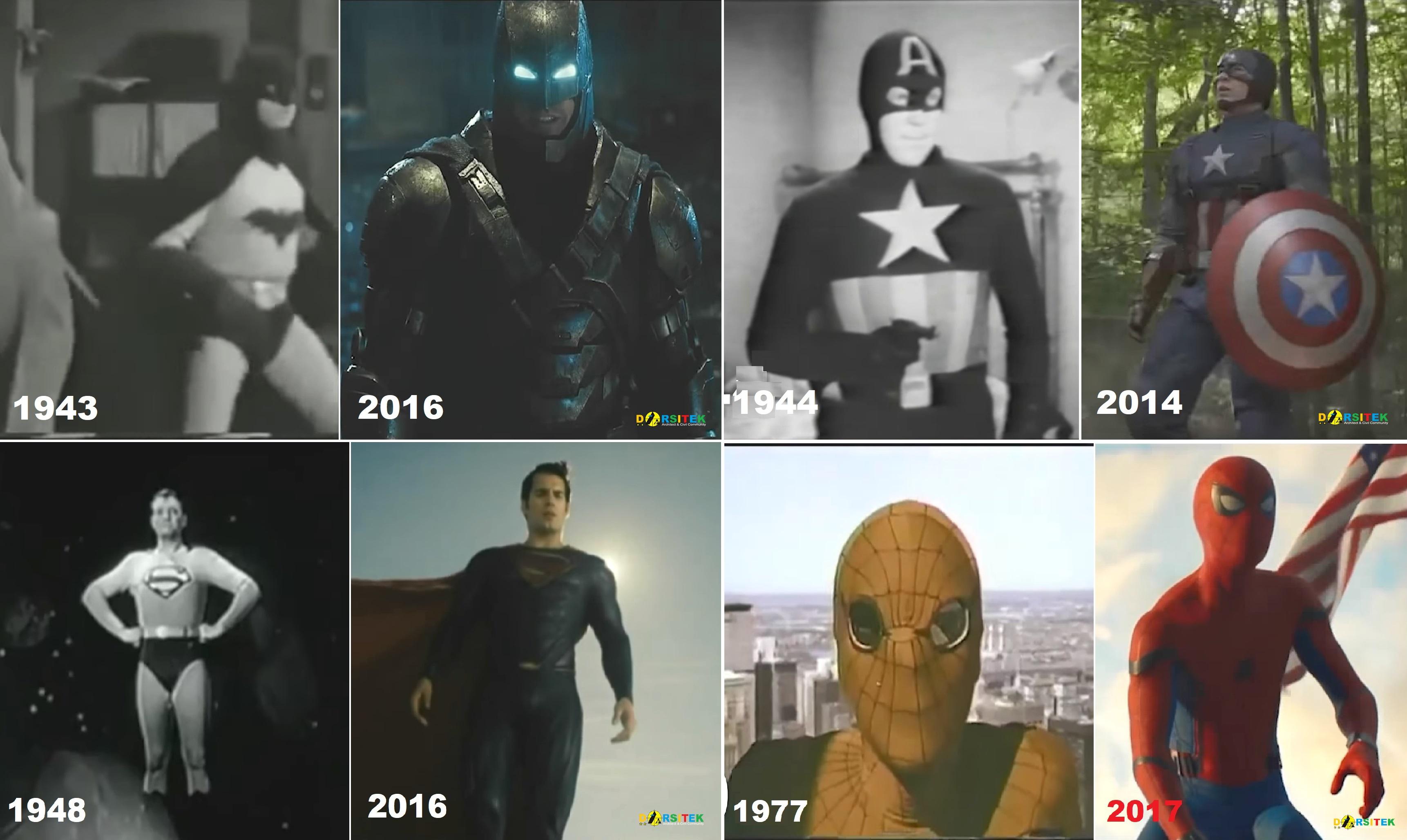 perubahan kostum superhero