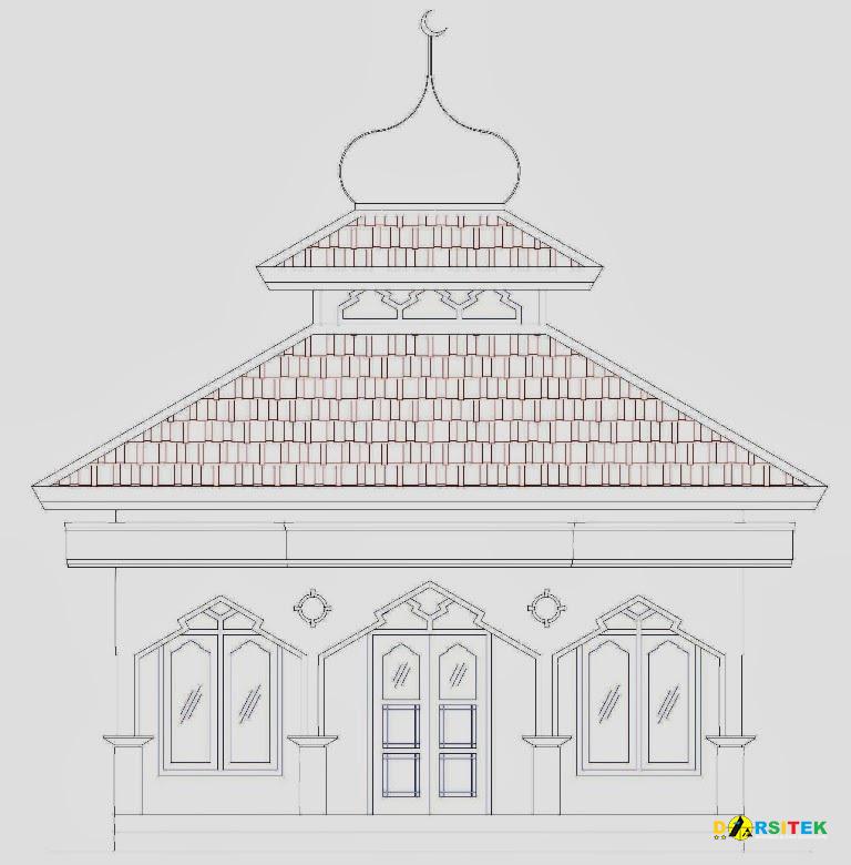 Referensi Gambar Masjid Sederhana Ukuran 6 6m X 6 6m Asdar Id