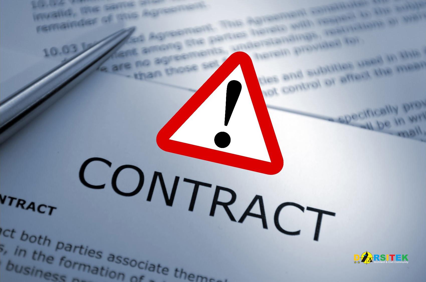 mengatasi kontrak yang bermasalah