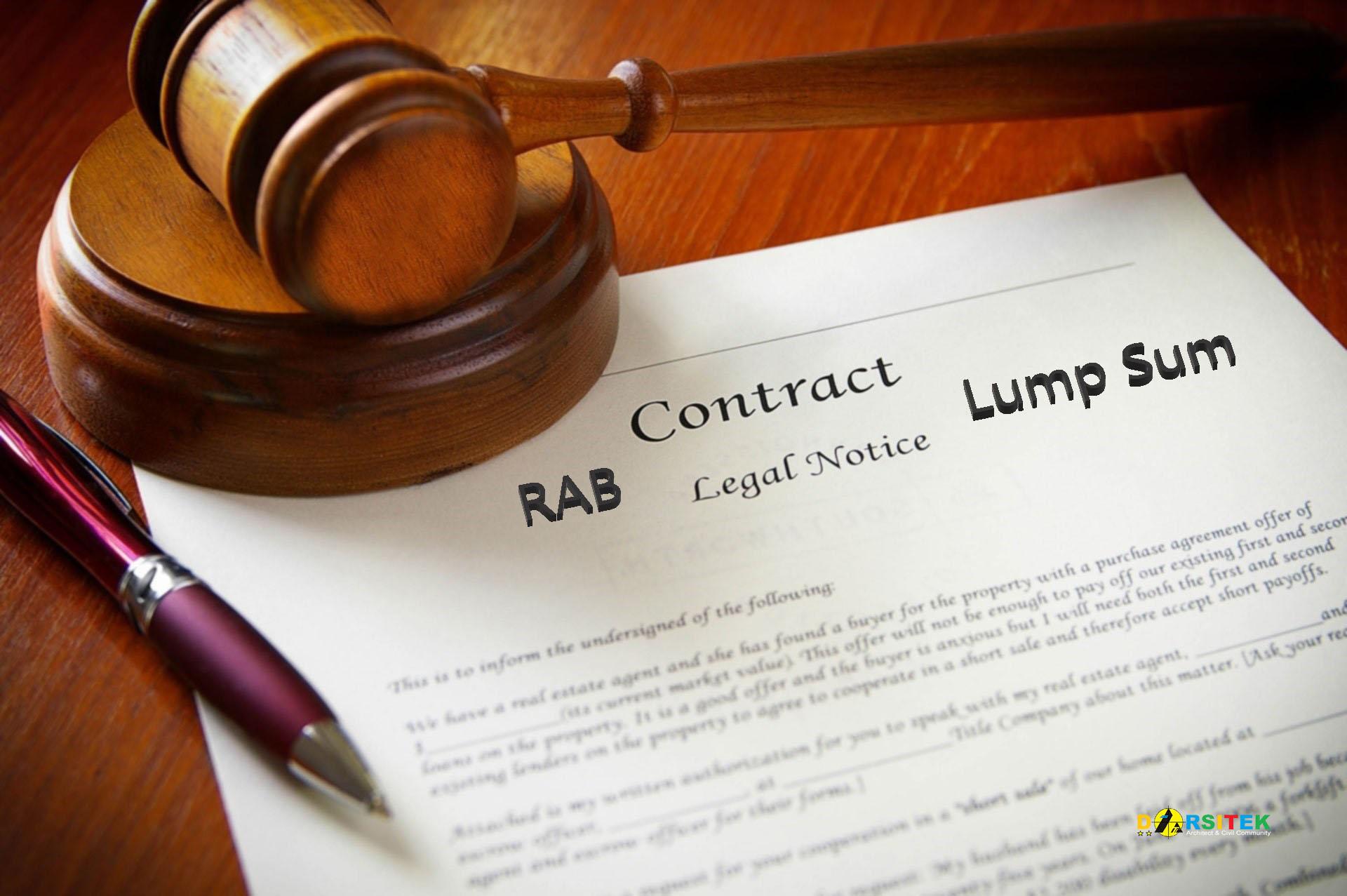 rab kontrak lump sum