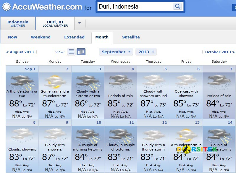 September accuweather