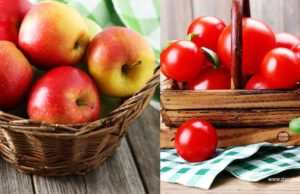 apple and tomatoes