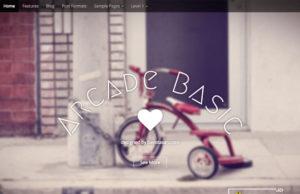 arcade basic wordpress