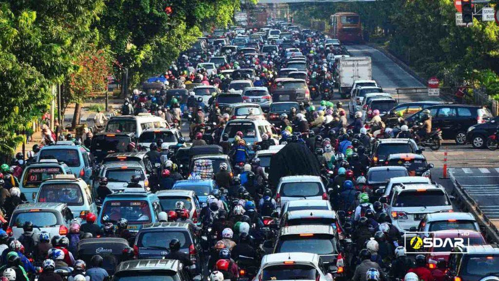 bentuk kemacetan jakarta
