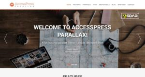 accesspress parallax wordpress