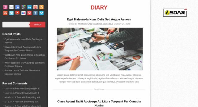 diary wordpress