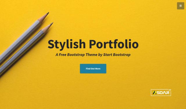 stylish portfolio wordpress