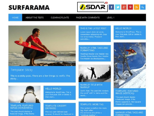surfarama wordpress