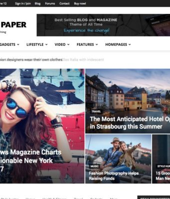 tema newspaper wordpress