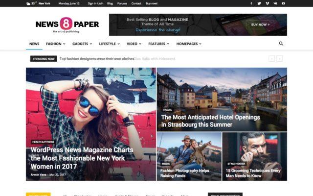 tema newspaper wordpress