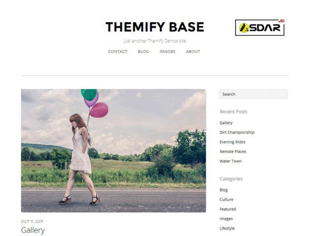 themify base wordpress