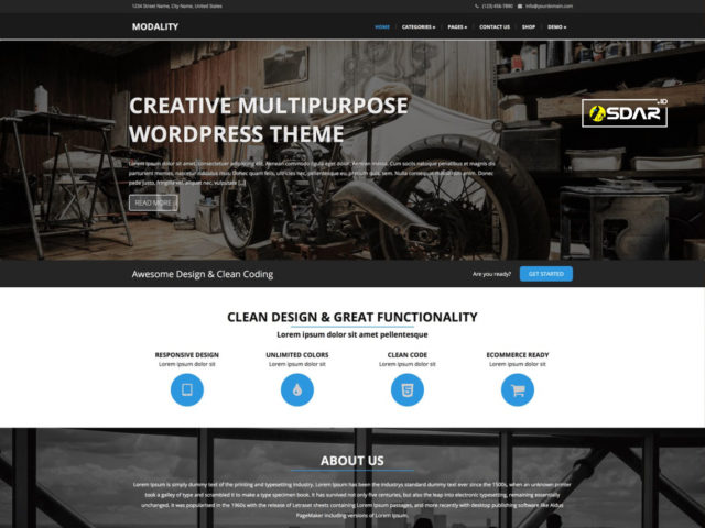 modality wordpress