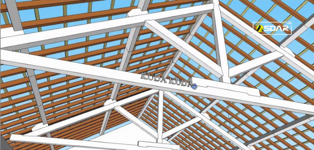 bagian-bagian atap rangka kayu