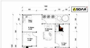 denah rumah 116 m2