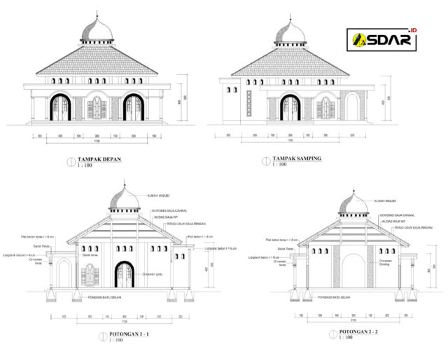 masjid 11x11m
