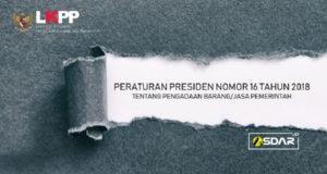 perpres no 16 thn 2018