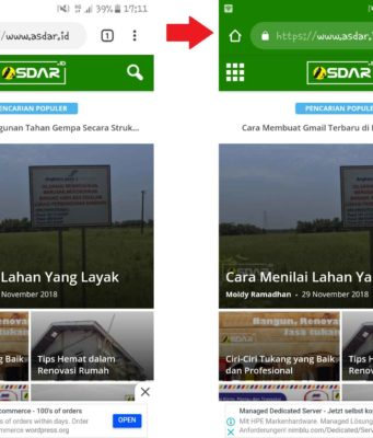 warna address bar pada browser mobile