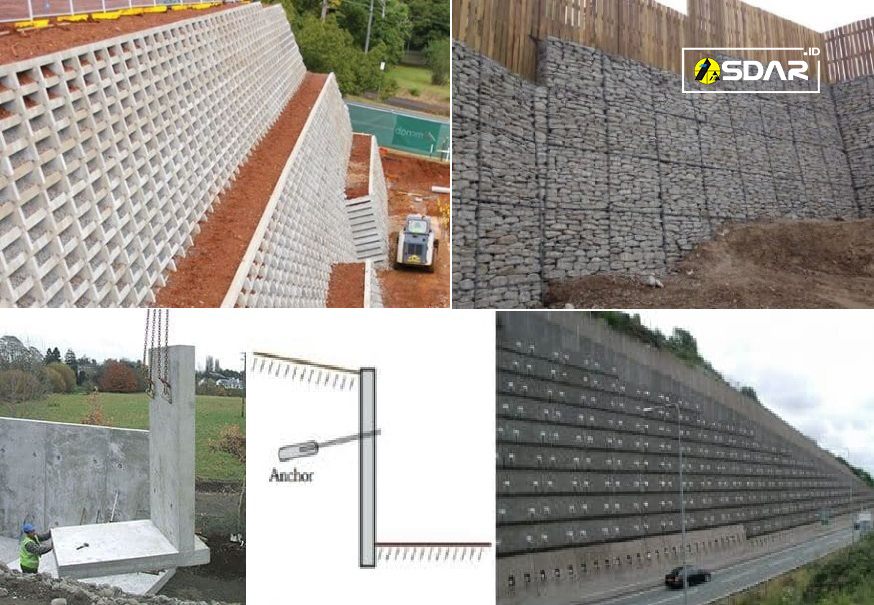 Jenis Struktur Dinding Penahan Tanah Untuk Menahan Longsor Asdar Id