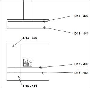 layout pondasi telapak