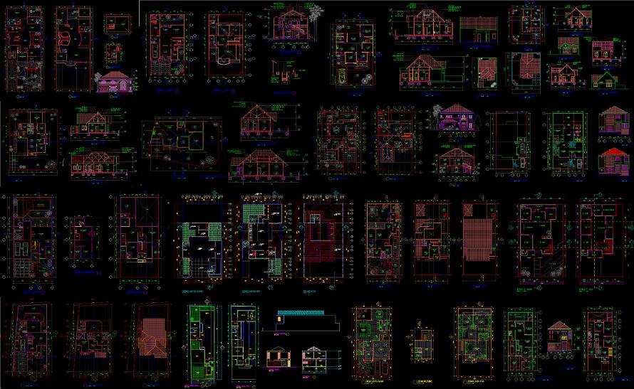 Kumpulan Gambar Desain Rumah Tinggal Format Dwg File Autocad Asdar Id