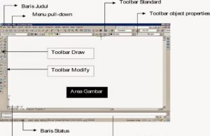 tampilan program autocad 2008 mode classic