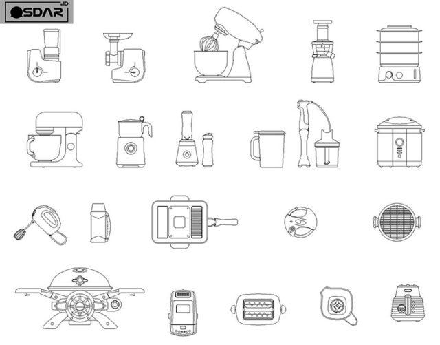 peralatan dapur kecil