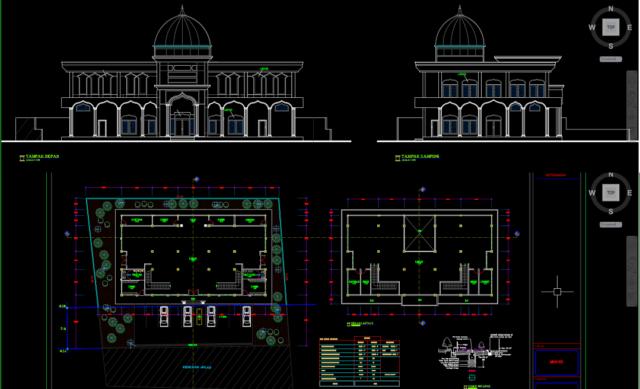 desain gambar masjid