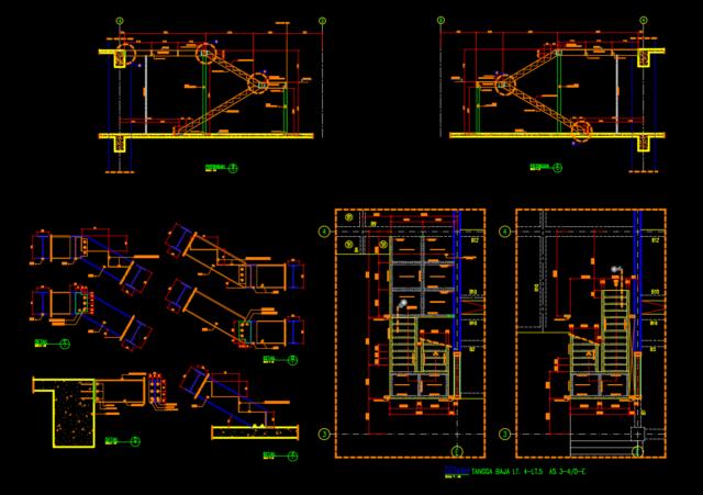 detail tangga baja