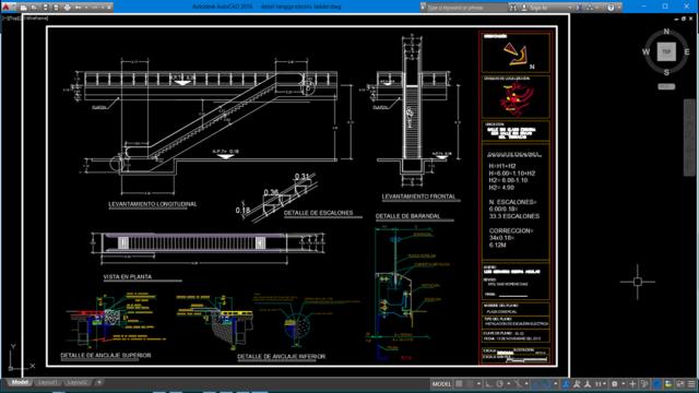 detail tangga electric ladder