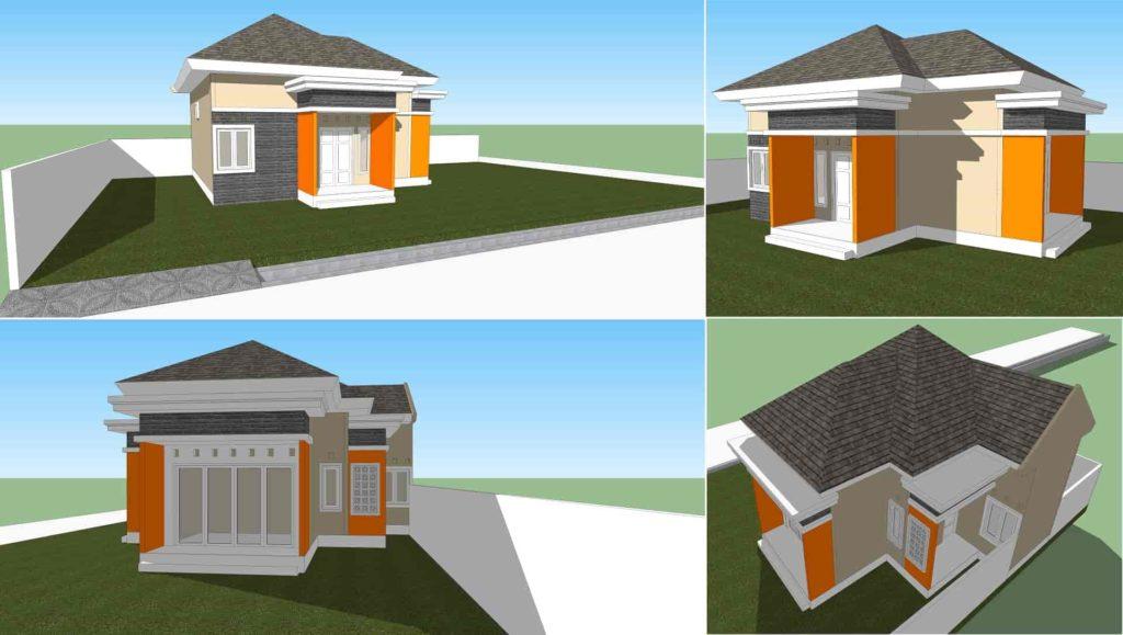 3 dimensi rumah minimalis