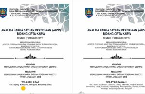 ahsp 2019 kabupaten tegal