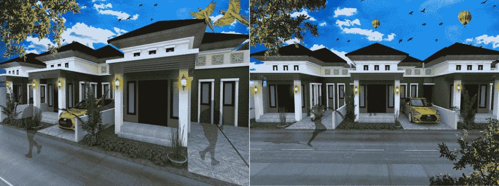 rumah mediaterania 3 dimensi