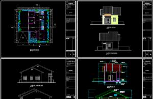 rumah ukuran 7,5x14m dengan 3 kamar tidur