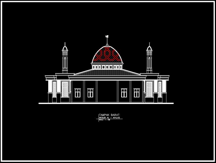 tampak barat masjid
