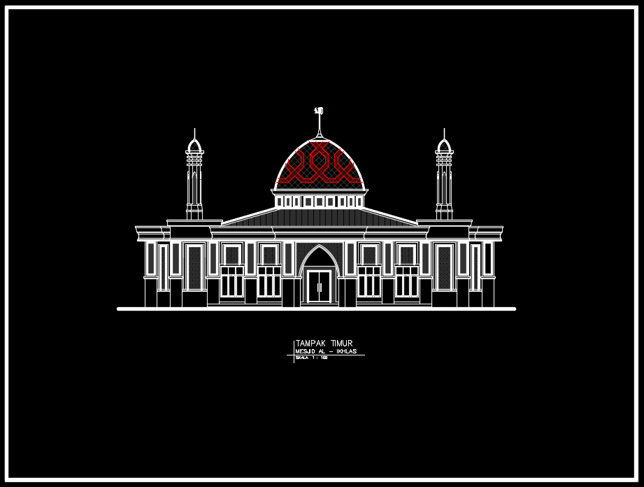 tampak timur masjid