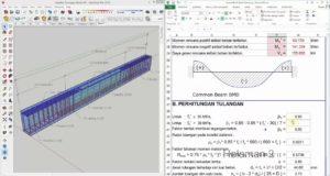 analisa balok beton bertulang