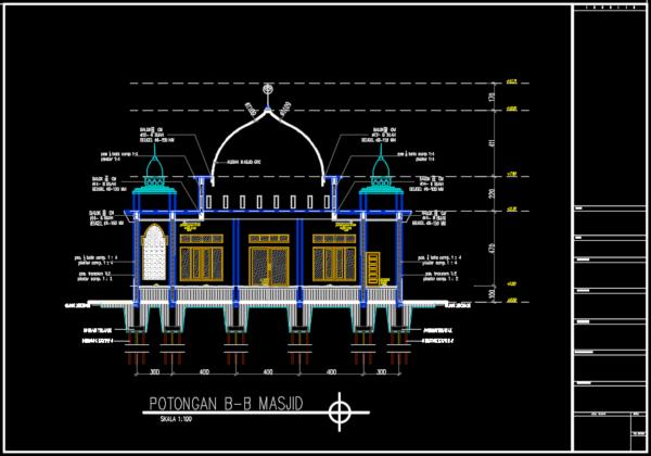 potongan b-b masjid