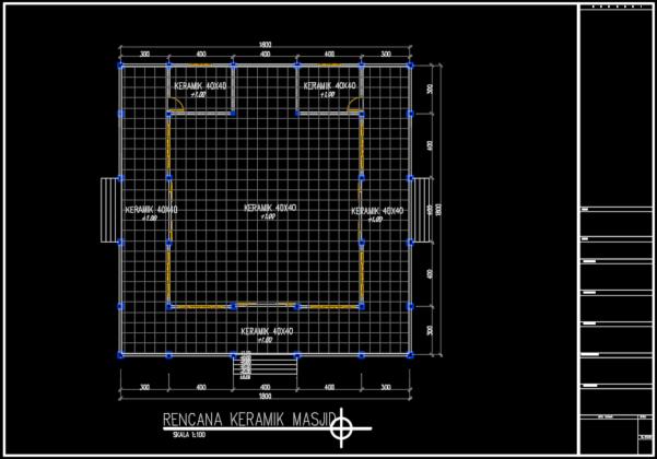 rencana lantai masjid
