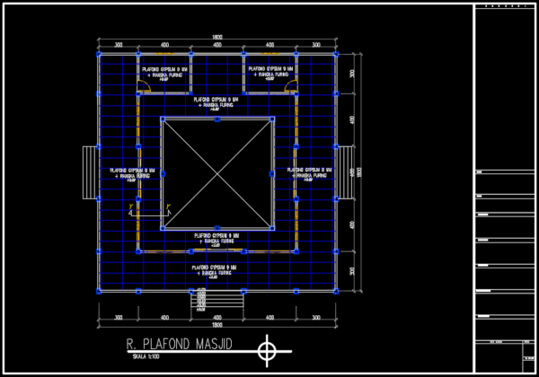 rencana plafond masjid