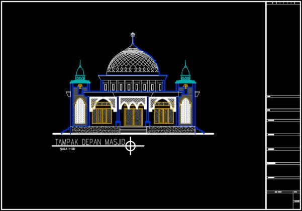tampak depan masjid