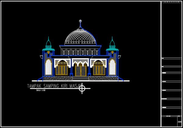 tampak samping kiri masjid