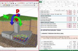 analisa pondasi tapak beton bertulang
