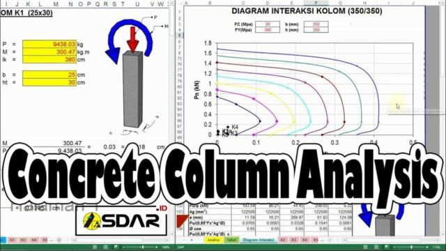 aplikasi analisa kolom beton bertulang & diagram interaksi