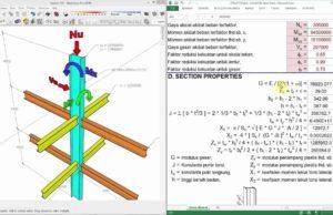 aplikasi analisa kolom struktur baja