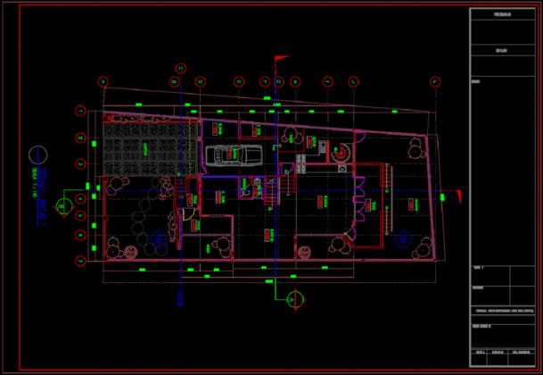 denah lt 1 rumah tinggal 2 lantai 11.60m x 25.65m