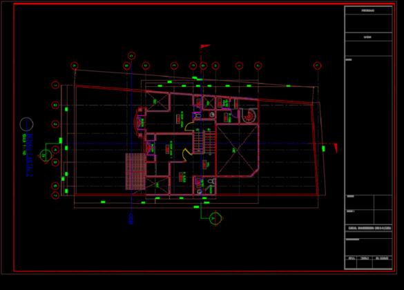 denah lt 2 rumah tinggal 2 lantai 11.60m x 25.65m