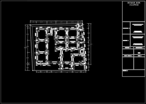 denah struktur pondasi rumah kost