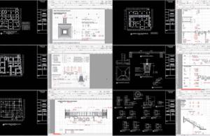 gambar struktur rumah kost format dwg